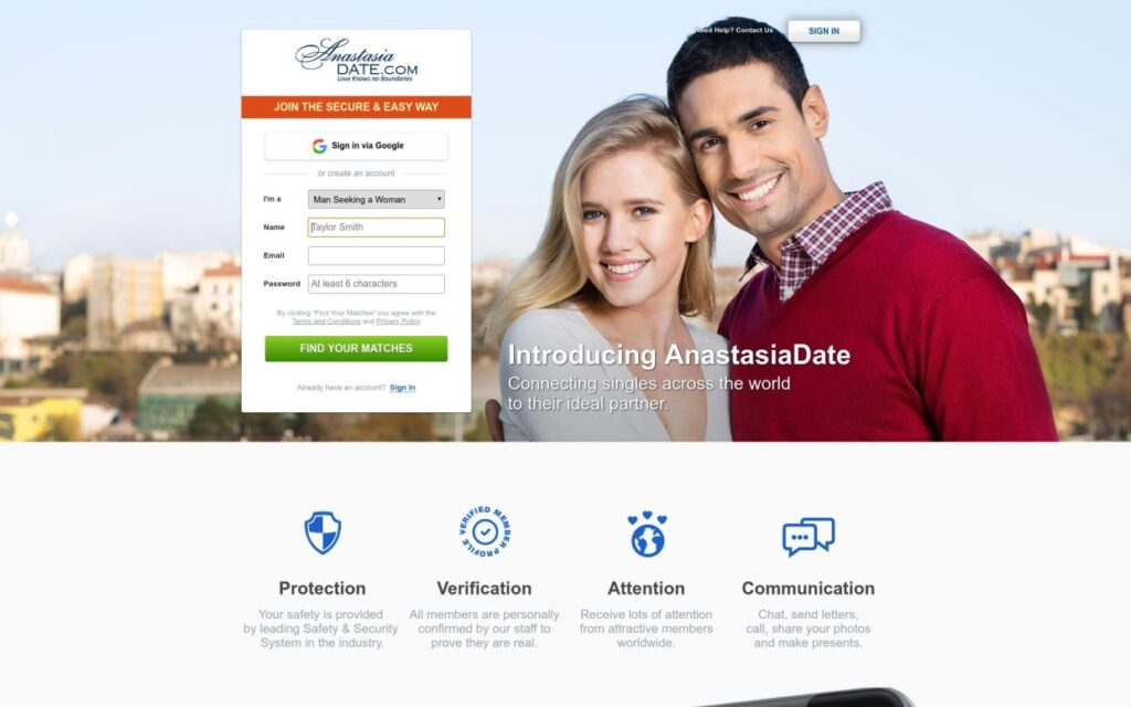 Anastasia Date Site Review