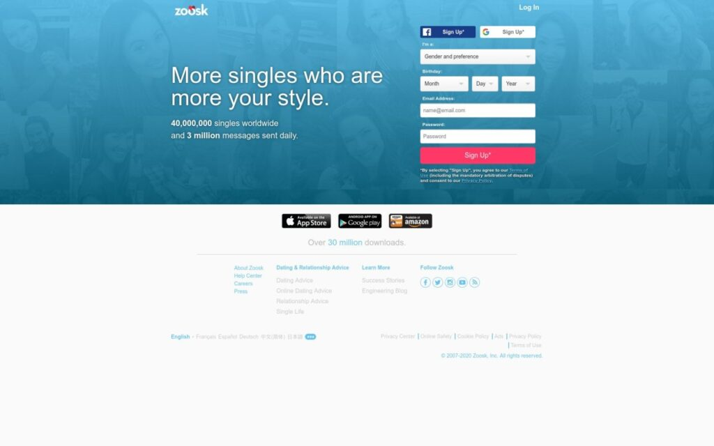 Zoosk Site Review